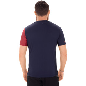 Cube Tour Koszulka rowerowa z zamkiem błyskawicznym Mężczyźni, blue'n'red